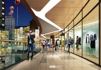 利川珑澄·汇项目商业综合体空间设计(2018)