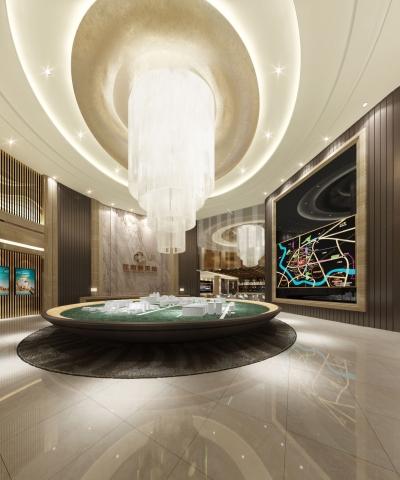 武汉·鹏湖湾二期室内公共区域设计(2015)
